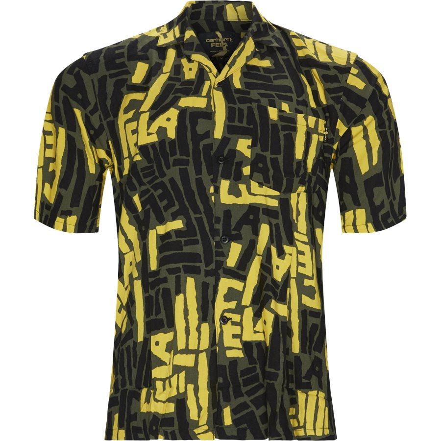 S/S FELA KUTI SHIRT I026378 - Shirts - Regular - ROVER GREEN - 1